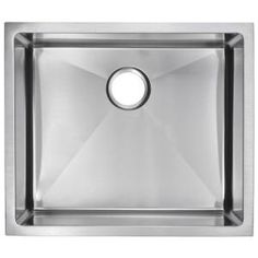 Water Creation Undermount Small Radius Stainless Steel 23x20x10 0-Hole Single Bowl Kitchen Sink in Satin Finish-SS-US-2320B at The Home Depot  laundry sink! cheaper option over apron style