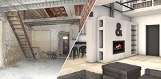 Avant / Projet 3D Vue de la cheminée