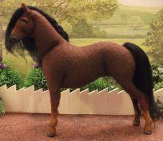 This is Amazing!!  OOAK Wool felt fabric model horse 'Fleur' by Needlenags on Etsy, $37.00