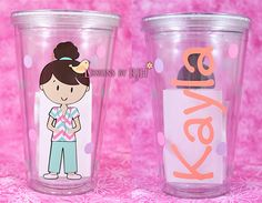 Personalized Nurse Tumbler -  Travel Cup - Nurse's Week - Choose Your Nurse Style and Colors - Great Gift on Etsy, $12.00
