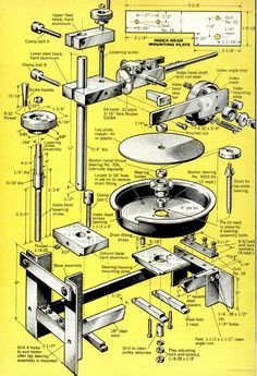 Make your own Gemstone faceting machine ( Lapidary Machine ). Page - 3 - Re-Wilding Gravure Metal, Rock Tumbling, Engraving Tools, Lathe Projects, Learn Woodworking, Woodworking Projects, Jewelry Making Tools, Homemade Tools, Pottery Wheel
