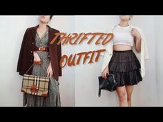 THRIFTED OUTFITS from last month thrifted items - YouTube Dress Up Diary, I Dress, Thrifting, Outfits, Dresses, Vestidos, Budget, Dress, Dressers
