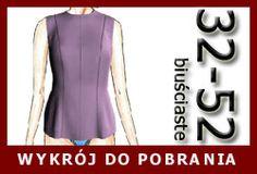 Wykrój do pobrania on-line. free pattern for curvy bust