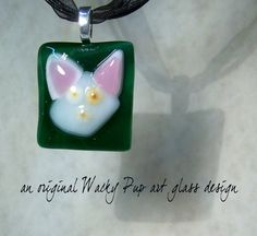 Pinky+&+The+Brain+Cat+Lover+Fused+Glass+White+Cat+by+WackyPup,+$24.99