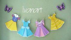 Dobradura vestidos de princesas