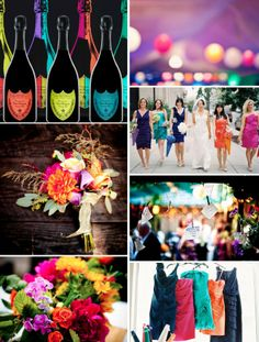 unique wedding color combinations - Google Search. OMG seriously this is how I am doing my wedding! It's exactly what I want! lol