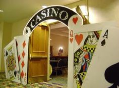Casino Entrance                                                                                                                                                                                 More Las Vegas Party, Vegas Theme, Casino Night Party, Vegas Casino, 80s Party, Casino Party Decorations, Casino Theme Parties, James Bond Party, Christmas Party Themes