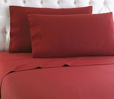 """500 Thread Count 4 Peice 22"""" Deep Pocket Attached Waterbed Sheet Set in Solid Burgundy California King Size 100% Egyptian Cotton by Fab Linens # Exclusive Sofa Bed Sheets, King Size Bed Sheets, Cotton Sheet Sets, Bed Sheet Sets, Pink Gray Bedroom, Water Bed, Small Room Bedroom, Master Bedroom"""