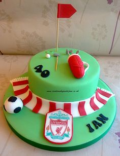 Liverpool Fottball & Golf Cake