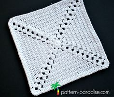 Free crochet pattern: Garden Trellis Afghan Square for Rosary Hill CAL by Pattern-Paradise.com