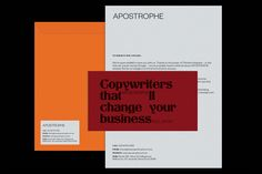 Apostrophe by Gemma Mahoney — The Brand Identity