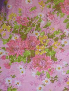 flower sheet full flat impressionist style pink by TheWabiSabi,