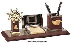 #NauticalDeskOrganizer with #Calendar  and #ShipsWheelClock #Business #PromotionalProducts #Promotions #Marketing