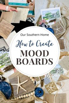 Tips on creating mood boards for your home whether it be designing one room or an entire house! Start by ordering flooring samples from Carpet One. #ad #carpetone #c1floorsamples #homedecor #interiordesign #flooring #moodboard #c1shopathome #coastalstyle #beachhouse @carpetonefh