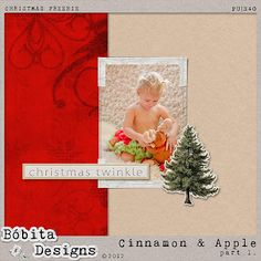 Bobita Designs - Cinnamon & Apple Christmas Gifts...  Blog train with three designers alternating every three days.  This blog seems to list all the freebies from all three designers.