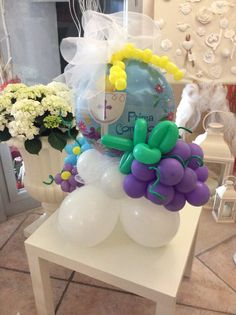 First holy communion balloon centerpiece