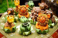 decoracao doces Safari