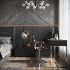 Master Bedroom on Behance Modern Luxury Bedroom, Luxury Bedroom Design, Modern Master Bedroom, Modern Bedroom Decor, Master Bedroom Design, Bedroom Vintage, Contemporary Bedroom, Luxurious Bedrooms, Master Bedrooms