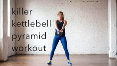 Build muscle burn fat and improve your cardio with this killer kettlebell pyramid workout revolving around heart-thumbing kettlebell swings! Circuit Kettlebell, Kettlebell Challenge, Kettlebell Training, Kettlebell Swings, Interval Training, Upper Body Hiit Workouts, Cardio Workout Routines, Workout Plans, Home Strength Training