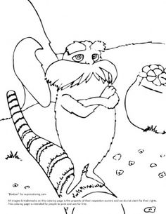 lorax coloring page from dr seuss the lorax category