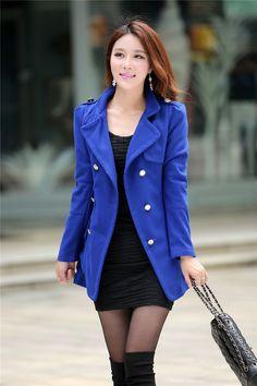 Women windbreaker, coat, Clothing, Women, Women windbreaker, coat, Korean double-breasted wool coat ghl2743, korean, clearance daily, deals outerwear