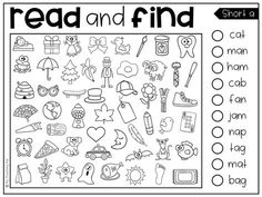 Read and Find Picture Puzzles - Short Vowels and Long Vowels by My Teaching Pal Kindergarten Reading, Kindergarten Teachers, Reading Activities, Teaching Reading, Short A Activities, Learning, Phonics Worksheets, Kindergarten Worksheets, Long Vowel Worksheets