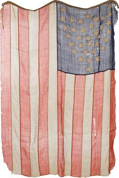 ca. 1864-67, [36 star American Flag, shield pattern]  via Heritage Auctions