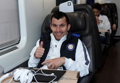 Gary Medel and Andrea Ranocchia in the back