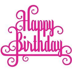 Silhouette Design Store - View Design #8611: 'happy birthday' phrase