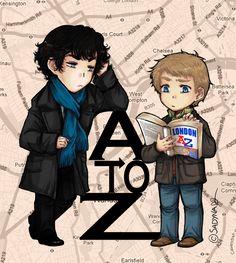 Sadyna's Blog - Sherlock and John - London A to Z.