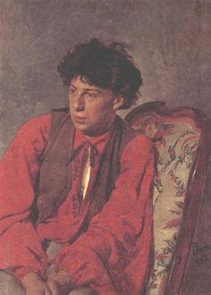 Portrait of V. E. Repin, the Artist's brother - Ilya Repin