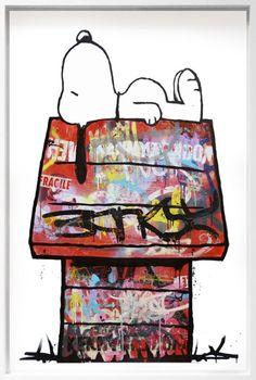 Even Snoopy gets graffiti lol