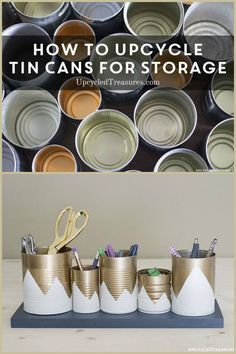 How to upcycle tin cans for storage
