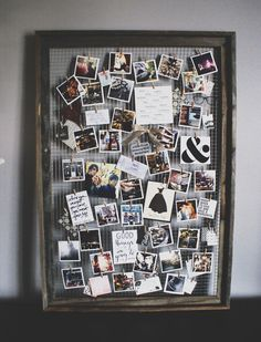 DIY Ideas With Old Picture Frames - DIY Inspiration Mood Board - Cool Crafts To Make With A Repurposed Picture Frame - Cheap Do It Yourself Gifts and Home Decor on A Budget - Fun Ideas for Decorating Your House and Room Decoration Photo, Soft Board Decoration, Decoration Pictures, Old Picture Frames, Homemade Picture Frames, Friends Picture Frame, Wedding Picture Frames, Old Frames, Diy Inspiration