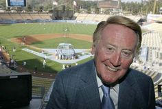 Vin Scully, the best sports broadcaster of all-time.