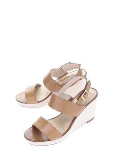 6c5b63038853 Hnedé kožené sandále na platforme Tamaris