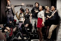 skins cast from season 5. in love with all the girls looks!!!
