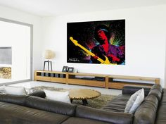 Jimmy Hendrix Wallpaper Mural. Comes in 2 easy to hang pieces. Width 2.32m x 1.58m.  Can be cut to fit smaller size. Quick and Easy to hang. £24.99 plus delivery. Please shop at the link below.  http://stores.ebay.co.uk/Littlebrook-Home?_rdc=1