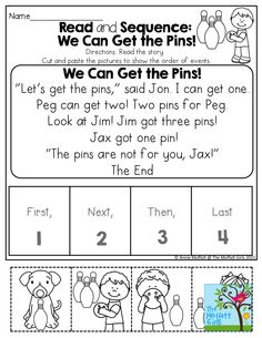 Read and Sequence a SIMPLE STORY! Read the simple story, cut and paste the pictures to show the sequence of events! FUN and EFFECTIVE!