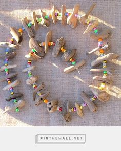 driftwood & bead necklace