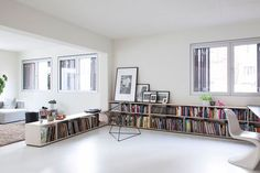 11 Ideas For Making A Room Feel Taller // Low Contrast Ceilings And Walls -- Painting the ceiling a color that's either the same color as the walls or is low contrast with the walls gives the illusion that the walls just keep going.