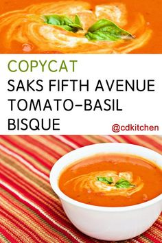 Made with salt and pepper, bay leaf, heavy whipping cream, beef stock, butter, onion, celery, flour, garlic, tomatoes, fresh basil, tomato puree | CDKitchen.com