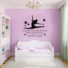 Cheap stickers home decor, Buy Quality wall stickers home decor directly from China home decor Suppliers: GYMNAST GYMNASTIC GIRLS Bedroom Quote Vinyl Wall Art Wall Decal Mural DIY Removable Bedroom Wall Stickers Home Decor Teenage Girl Bedroom Designs, Teenage Girl Bedrooms, Girl Rooms, Girl Bedroom Walls, Home Decor Bedroom, Bedroom Ideas, Dance Bedroom, Diy Bedroom, Master Bedroom