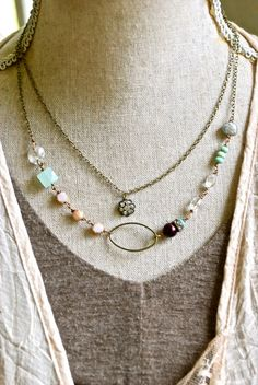Adele. bohemian beaded double strand crystal by tiedupmemories, $52.00