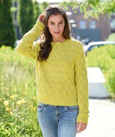 Pullover im Rhombenmuster by Schachenmayr, free knitting pattern