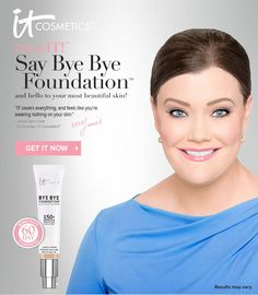Bye Bye Foundation from IT Cosmetics® - So gonna buy this kit next week! Excited! =P