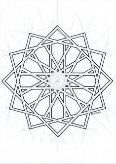 Islamic geometric pattern – My Tattoo Motifs Islamiques, Islamic Motifs, Islamic Art Pattern, Arabic Pattern, Pattern Art, Geometric Mandala, Geometric Drawing, Geometric Designs, Geometric Shapes