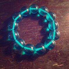 Fun Aqua Acrylic Bracelet Fun big bead bracelet.... Perfect for work and play Anthropologie Jewelry Bracelets