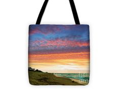 """#Tote #Bag (13"""" x 13"""" - 18"""") for sale by #Paradise #Bay #Sunrise C2 #Photography #Lake #Dock #Pier by #Ricardos #Creations #RicardosCreations..  The tote bag is machine washable, available in three different sizes, and includes a black strap for easy carrying on your shoulder.  All totes are available for worldwide shipping and include a money-back guarantee."""