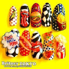 Nail porn 3DNail ArtbyBritney TOKYO☆ ✌ ✿ ✡ ✟ ☺ ✞ TOKYO meets Hollywood ✞ ☺ ✟ ✡ ✿✌